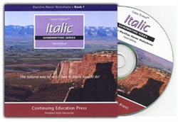 Italic Handwriting F - Blackline Masters CD-ROM