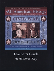 All American History Volume II - Teacher's Guide and Answer Key