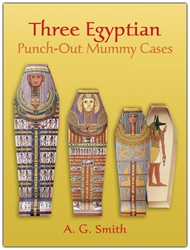 Three Egyptian Punch-Out Mummy Cases