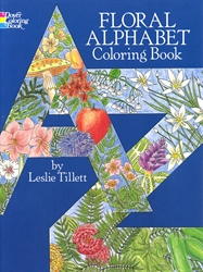 Floral Alphabet - Coloring Book