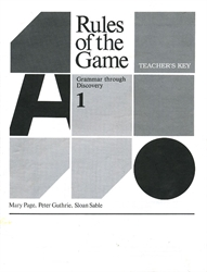 Rules of the Game 1 - Teacher's Key