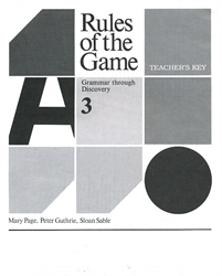 Rules of the Game 3 - Teacher's Key
