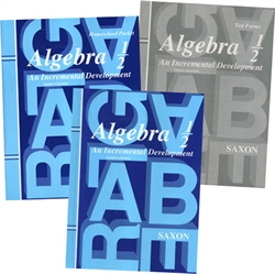 Saxon Algebra 1/2 - Home Study Kit