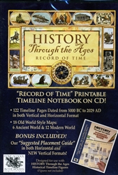 History Through the Ages - Record of Time Printable Timeline Notebook