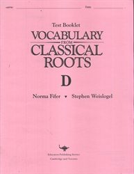 Vocabulary From Classical Roots D - Tests