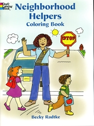 Neighborhood Helpers - Coloring Book