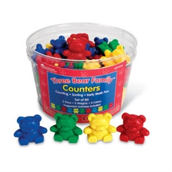 Four-Color Baby Bear Counters (set of 48)