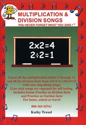 Multiplication & Division Songs - DVD