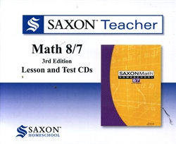 Saxon Math 8/7 - Teacher CDs