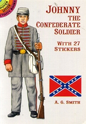 Johnny the Confederate Soldier - Sticker Activity Book