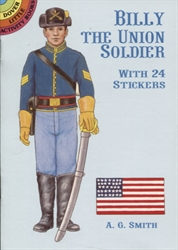 Billy the Union Soldier with 24 Stickers - Activity Book
