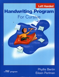PAF Handwriting Program for Cursive (Left Handed)