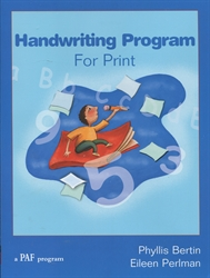 PAF Handwriting Program for Cursive (Right Handed)