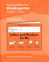 Handwriting Without Tears Kindergarten Teacher's Guide