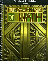 Fundamentals of Math - Student Activities Teacher Edition