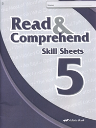 Read & Think 5 Skill Sheets