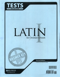 Latin I - Test Answer Key