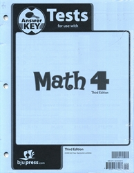 Math 4 - Tests Answer Key (Old)