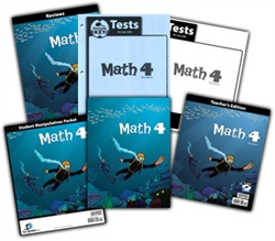 BJU Math 4 - Home School Kit (Old)