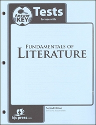 Fundamentals of Literature - Tests Answer Key