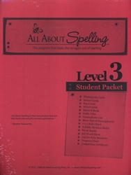 All About Spelling Level 3 - Student Materials Packet