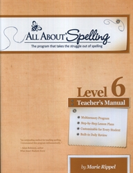 All About Spelling Level 6 - Teacher's Manual