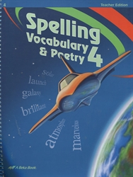 Spelling, Vocabulary, Poetry 4 - Teacher Edition/Poetry CD
