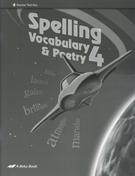 Spelling, Vocabulary, Poetry 4 - Test Key