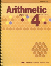 Arithmetic 4 - Answer Key