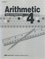 Arithmetic 4 - Tests/Speed Drills Key