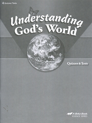 Understanding God's World - Test/Quiz Book