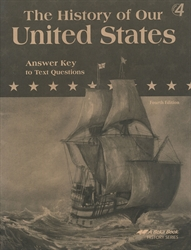 History of Our United States - Answer Key