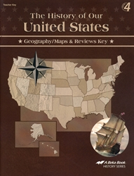 History of Our United States - Map Skills Key