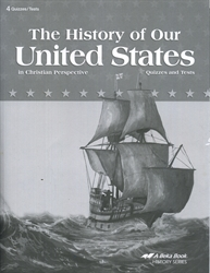 History of Our United States - Test/Quiz Booklet