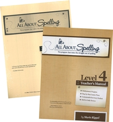 All About Spelling Level 4 - Teacher's Manual & Student Materials Packet