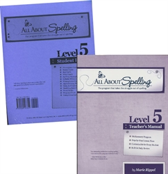 All About Spelling Level 5 - Teacher's Manual & Student Material Packet