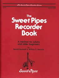 Sweet Pipes Recorder Book 1 for Alto