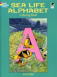 Sea Life Alphabet - Coloring Book