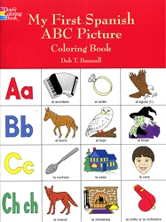 My First Spanish ABC Picture - Coloring Book