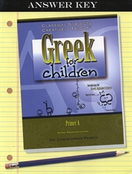 Greek for Children Primer A - Answer Key
