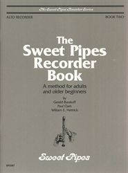 Sweet Pipes Recorder Book 2 for Alto