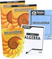 BJU Pre-Algebra - Home School Kit