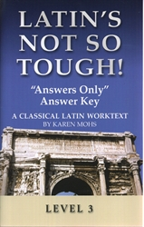 "Latin's Not So Tough! 3 - ""Answers-only"" Key"
