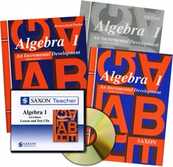 Saxon Algebra 1 - Home School Bundle with Teacher CD