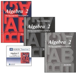 Saxon Algebra 2 - Home School Bundle with Teacher CD