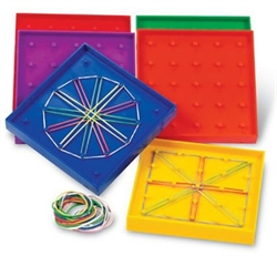 Geoboard (double-sided, plastic, set of six)