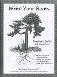 Write Your Roots - Teacher's Guide
