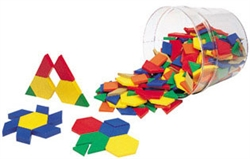 Plastic Pattern Blocks Full Set