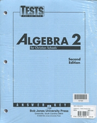Algebra 2 - Tests Answer Key (old)
