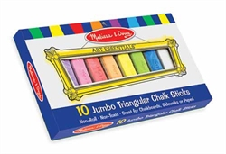 Chalk (Jumbo Triangular, Multi-colored 10 sticks)